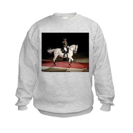 Lipizzaner Stallion Kids Sweatshirt
