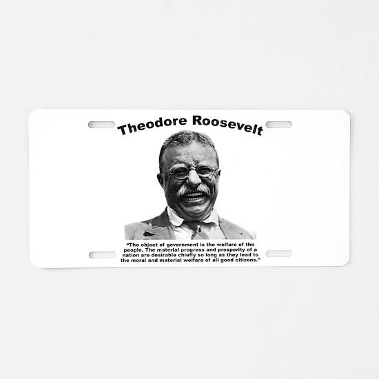TRoosevelt: Welfare Aluminum License Plate