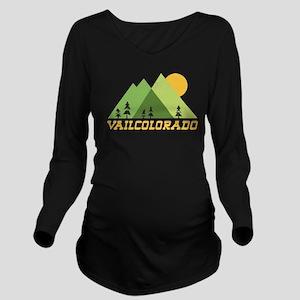 Vail Colorado Mounta Long Sleeve Maternity T-Shirt
