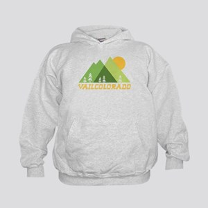 Vail Colorado Mountain Sun Kids Hoodie