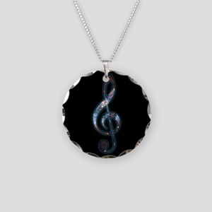 Music is Universal Necklace Circle Charm