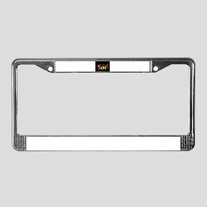 666 License Plate Frame