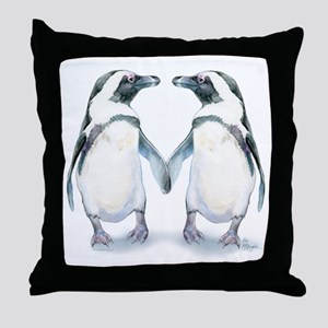 Penguin Pals Throw Pillow