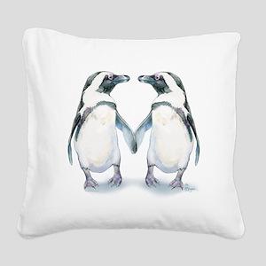 Penguin Pals Square Canvas Pillow