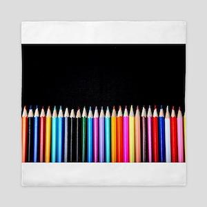 black art pencils Queen Duvet