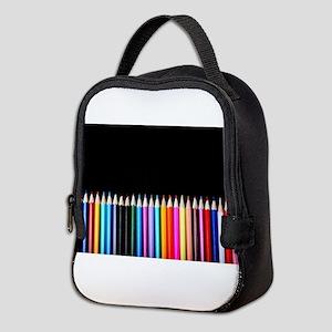 black art pencils Neoprene Lunch Bag