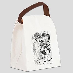 1900s vintage victorian Canvas Lunch Bag