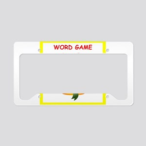 word games License Plate Holder