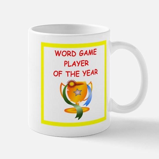 word games Mugs