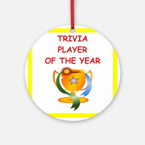 trivia Ornament (Round)