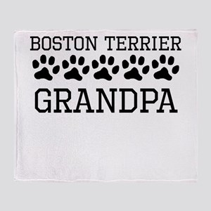 Boston Terrier Grandpa Throw Blanket
