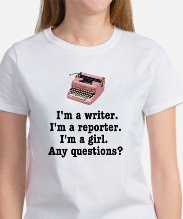 Pink Typewriter T-Shirt