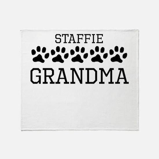 Staffie Grandma Throw Blanket
