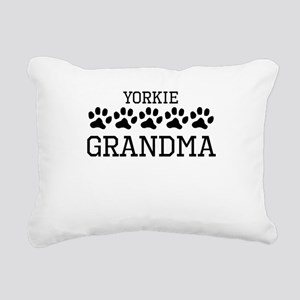 Yorkie Grandma Rectangular Canvas Pillow