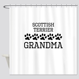 Scottish Terrier Grandma Shower Curtain