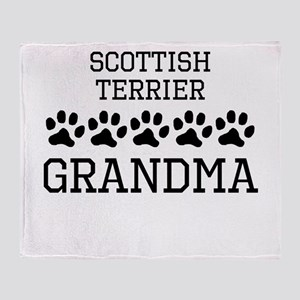 Scottish Terrier Grandma Throw Blanket