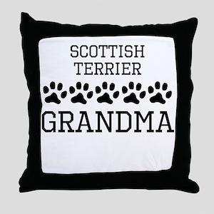 Scottish Terrier Grandma Throw Pillow