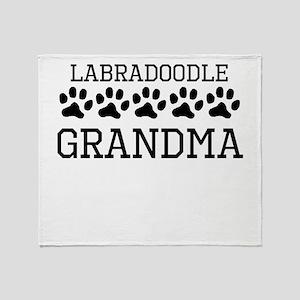 Labradoodle Grandma Throw Blanket