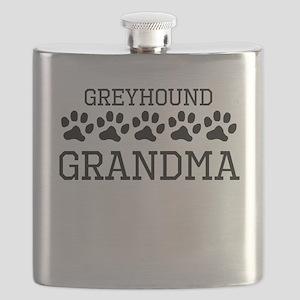 Greyhound Grandma Flask