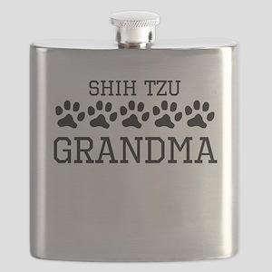 Shih Tzu Grandma Flask
