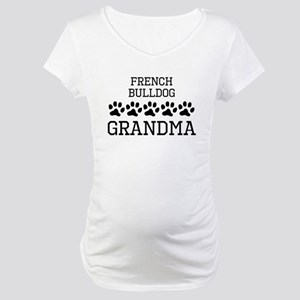 French Bulldog Grandma Maternity T-Shirt