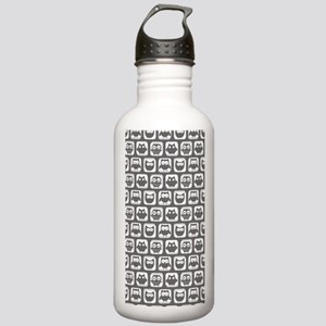 Dim Gray and White Owl Stainless Water Bottle 1.0L
