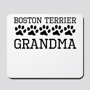 Boston Terrier Grandma Mousepad
