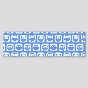 Corn Flower Blue and White Cute O Sticker (Bumper)