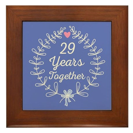 29th Wedding Anniversary Framed Tile By Anniversarytshirts3