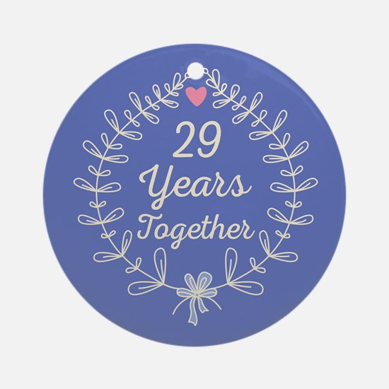 29th Wedding Anniversary Ornament (Round)