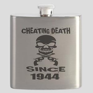Cheating Death Since 1944 Birthday Designs Flask
