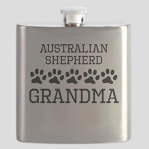 Australian Shepherd Grandma Flask