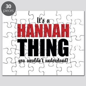 Its a Hannah Thing Puzzle