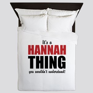 Its a Hannah Thing Queen Duvet