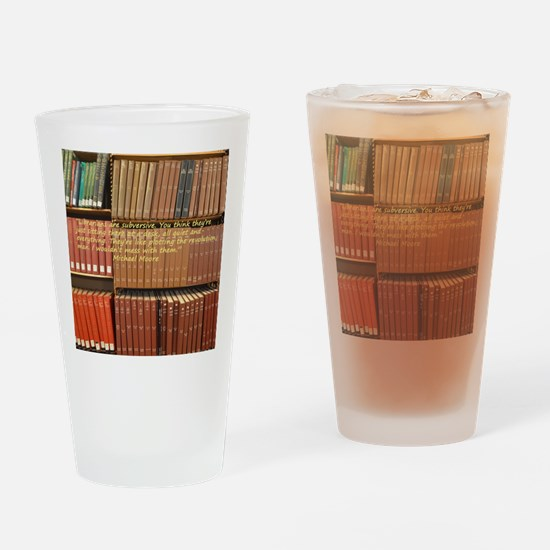 Subversive Librarians Drinking Glass
