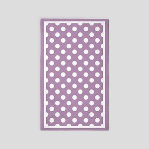 Lavender Polka Dots Area Rug