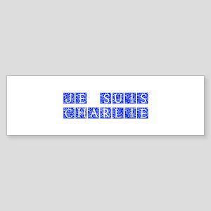 Je suis Charlie-Ana blue Bumper Sticker