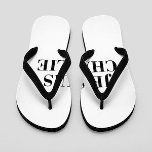 Je suis Charlie-Bod black Flip Flops