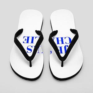 Je suis Charlie-Bod blue Flip Flops
