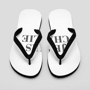 Je suis Charlie-Bod gray Flip Flops