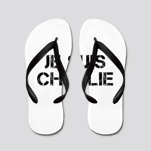 Je suis Charlie-Cap black Flip Flops