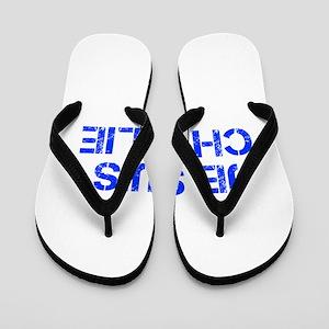 Je suis Charlie-Cap blue Flip Flops