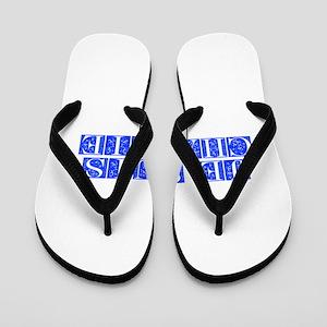Je suis Charlie-Fle blue Flip Flops