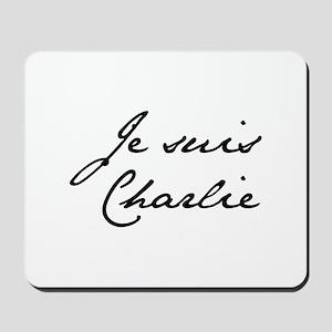 Je suis Charlie-Jan black Mousepad