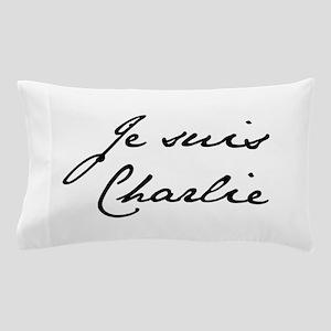 Je suis Charlie-Jan black Pillow Case