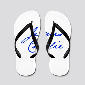Je suis Charlie-Jan blue Flip Flops