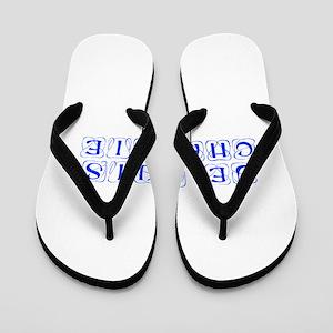 Je suis Charlie-Kon blue Flip Flops