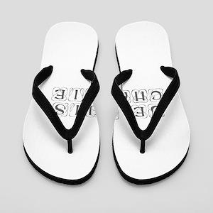 Je suis Charlie-Kon gray Flip Flops