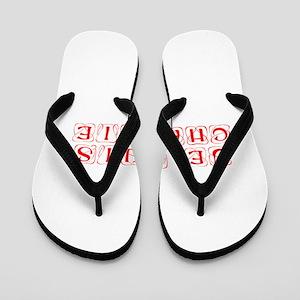 Je suis Charlie-Kon red Flip Flops