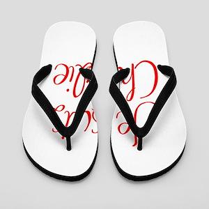 Je suis Charlie-MAS red Flip Flops